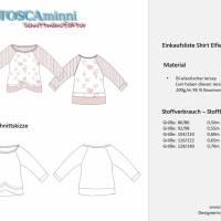Raglanshirt + Tüllrock Elfie Gr. 80 - 140 Papierschnittmuster + Nähanleitung - Shirt aus Jersey für Nähanfänger  Bild 6
