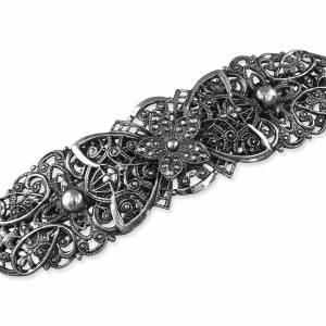 Trachten Haarschmuck Haarspange Silber, Trachtenschmuck Antik, Filigrane Haarspange, Tracht Schmuck Dirndl, Hochzeit Bild 1