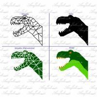 Plotterdatei geometric T-Rex Head Bild 10