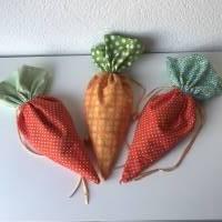 Osterbeutel in Karottenform * Osternest * Osterkorb * Zugbandbeutel * Ostergeschenk *  Bild 5