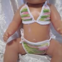 Bikini für Puppen der größe 42 -43 cm, Puppenkleidung Bild 1