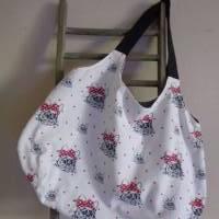Einkaufstasche - Shopper - Schultertasche - Markttasche - Strandtasche - Shoppingbag - XL Tasche - Französische Bulldogg Bild 1