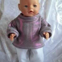 2 Tlg Set Puppenkleidung  Pullover und Hose für Puppen  von 42 cm - 43cm Bild 1