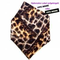 """Überzug für FFP2 Maske """"Giraffe"""" - einlagig - 100% Baumwolle - Waschbar - Stoffhülle - Stoffüberzug Bild 1"""