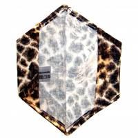 """Überzug für FFP2 Maske """"Giraffe"""" - einlagig - 100% Baumwolle - Waschbar - Stoffhülle - Stoffüberzug Bild 3"""