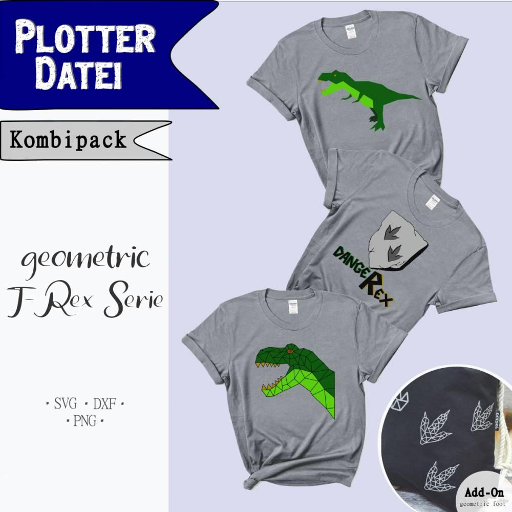 Plotterdatei geometric T-Rex Serie *Kombipack* Bild 1