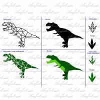 Plotterdatei geometric T-Rex Serie *Kombipack* Bild 10