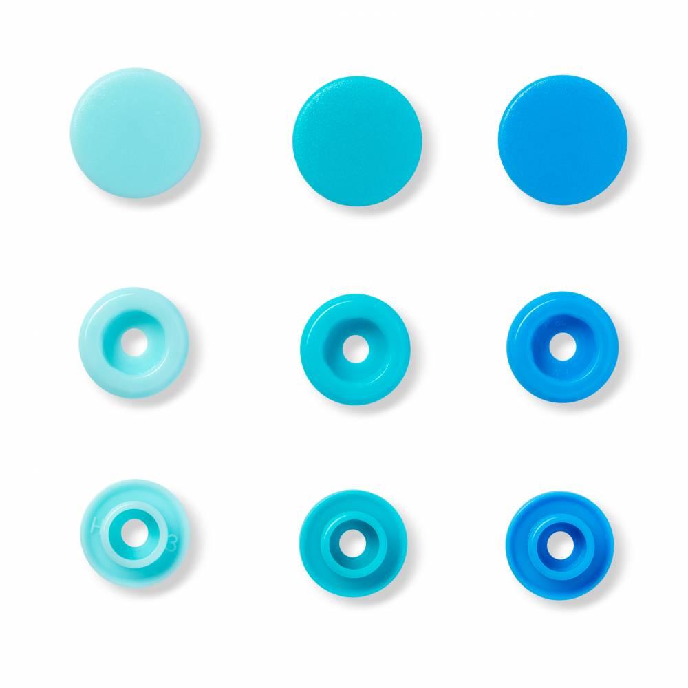 """Nähfrei-Druckknöpfe """"Color Snaps"""", rund, 12,4mm, blau (393000) Bild 1"""