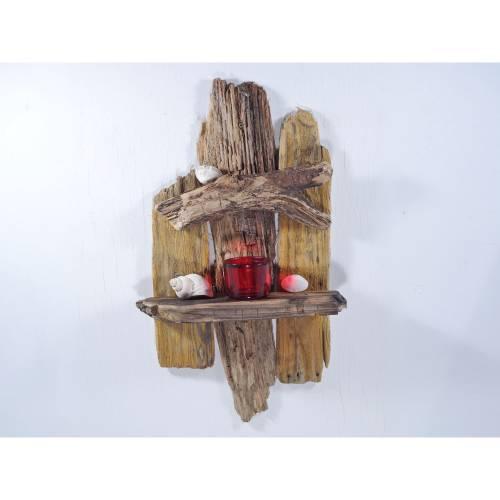 Treibholzmöbel, Regal aus Treibholz, individuell, zum Aufhängen, Regal fürs Badezimmer, Badregal, kleines Regal, Küchenr