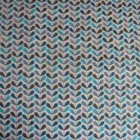 11,20 EUR/m Baumwolle Stoff Scandy Blätter türkis blau grau Bild 2