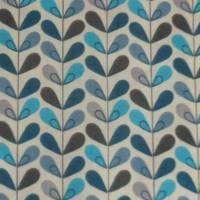 11,20 EUR/m Baumwolle Stoff Scandy Blätter türkis blau grau Bild 5
