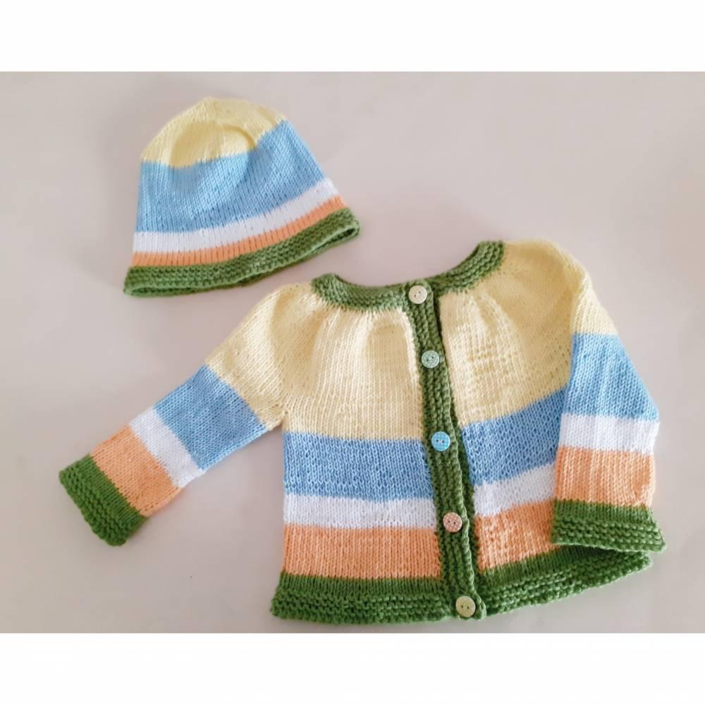 Babygarnitur Größe 52/56 aus Baumwolle Bild 1