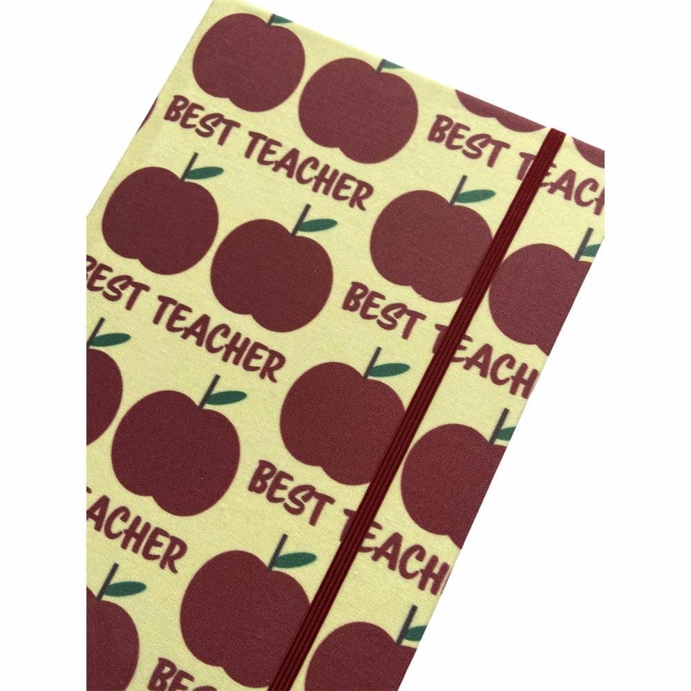 """Notizbuch """"The Best Teacher/Yellow"""" A5 stoffbezogen Lehrerin Lehrer Geschenkidee Geschenk Dankeschön Abschied Bild 1"""