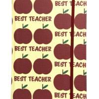 """Notizbuch """"The Best Teacher/Yellow"""" A5 stoffbezogen Lehrerin Lehrer Geschenkidee Geschenk Dankeschön Abschied Bild 2"""