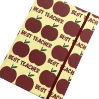 """Notizbuch """"The Best Teacher/Yellow"""" A5 stoffbezogen Lehrerin Lehrer Geschenkidee Geschenk Dankeschön Abschied Bild 4"""