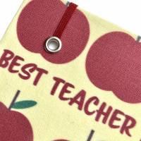 """Notizbuch """"The Best Teacher/Yellow"""" A5 stoffbezogen Lehrerin Lehrer Geschenkidee Geschenk Dankeschön Abschied Bild 5"""