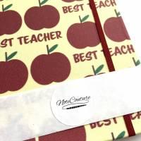 """Notizbuch """"The Best Teacher/Yellow"""" A5 stoffbezogen Lehrerin Lehrer Geschenkidee Geschenk Dankeschön Abschied Bild 7"""