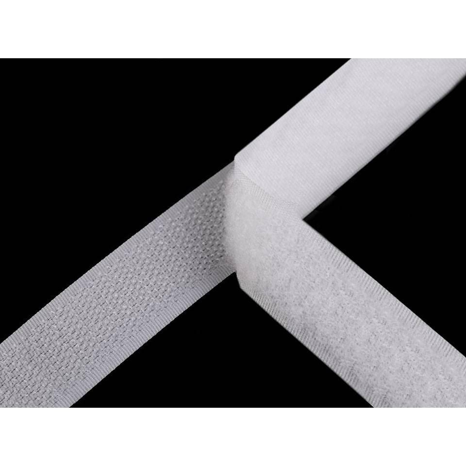 Klettverschluss Klettband  selbstklebend Haken u. Schlaufen 25 mm weiß (1m/3,00 €) Bild 1