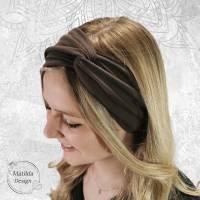 Stirnband • RAUCHBLAU BLÜMCHEN • alle Größen • Jersey • Tragevarianten • Sonderanfertigungen möglich • viele Farben Bild 8