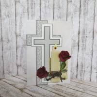 Trauerkarte, Kondolenzkarte Kerze mit Rosen Bild 2