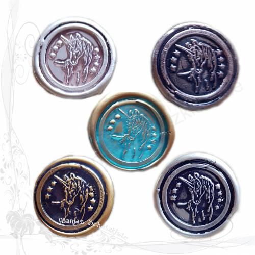 5 handgemachte Siegel, Motiv *Einhorn Elora Mix*, für DIY-Junk-Journals, keine Versandkosten