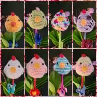 """Funny Chicken / lustige Hühnchen / Dekoration zu Ostern """"am Spieß"""", verschiedene Designs Bild 1"""