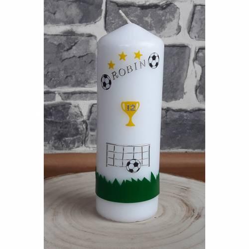 Kerze Einschulung,Geburtstag,Geschenk  Fußball