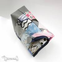 Rosa oder blau? Beides! Täschchen, Kosmetiktasche, Projekttasche; für Strickzeug, Krimskrams...  Bild 2