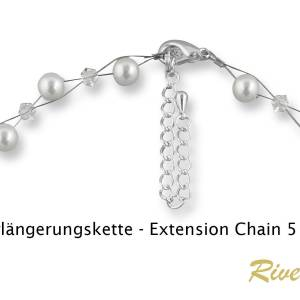 Y-Kette Perlen weiß creme, Silber 925, Swarovski Steine, Schmucketui, Perlenkette, Hochzeit Schmuck, Halskette Perlen Bild 5