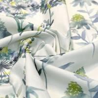 Vorhangstoff, Gardinenstoff, Dekostoff Forest de Luxe cool, Blume blau Bild 1