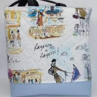 Umhängetasche 'Italia amore', gesteppt, mit Kunstleder, Unikat von hessmade Bild 2