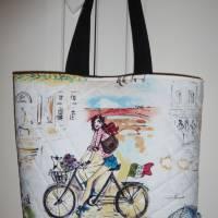 Umhängetasche 'Italia amore', gesteppt, mit Kunstleder, Unikat von hessmade Bild 4