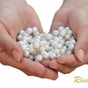 Kette Hochzeit Perlen weiß creme, Silber, Swarovski Kristalle, Schmucketui, Halskette Perlen, Perlenkette mehrreihig Bild 5