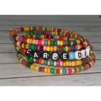CARPE DIEM/wickelarmband/armband/armreif/boho/regenbogen family/flower power/schmuck/mantra/buntes armband/geschenk für sie/yoga Bild 1