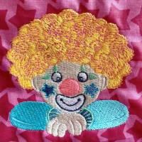 12 x Stickdateien aus der Clownserie by Bine Brändle 10x10 & 13x18 Rahmen Bild 2