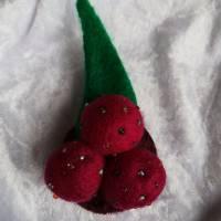 Brosche Filzbrosche Button Anstecker Pin Blume Filz Geschenk Dekoration Bild 1
