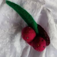 Brosche Filzbrosche Button Anstecker Pin Blume Filz Geschenk Dekoration Bild 2