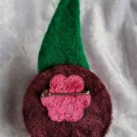 Brosche Filzbrosche Button Anstecker Pin Blume Filz Geschenk Dekoration Bild 3
