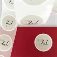 Aufkleber - Für Dich - 10 Stück - Sticker, Etiketten, Geschenk, Danke sagen, Dankeschön, Dankesticker Bild 4