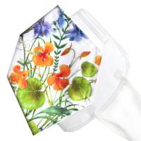 Überzug für FFP2 Masken *Blütenzauber* einlagig Baumwolle waschbar FFP2 Mask Cover Verschönern Bild 1