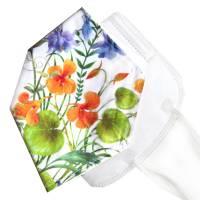 Überzug für FFP2 Masken *Blütenzauber* einlagig Baumwolle waschbar FFP2 undercover Mask Cover Verschönern Bild 1