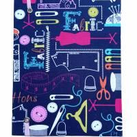"""Notizbuch Tagebuch Projektbuch Kladde """"Let´s sew!"""" Hardcover 17,5 x 23 cm stoffbezogen Stoff Nähen Hobby DIY Bild 3"""