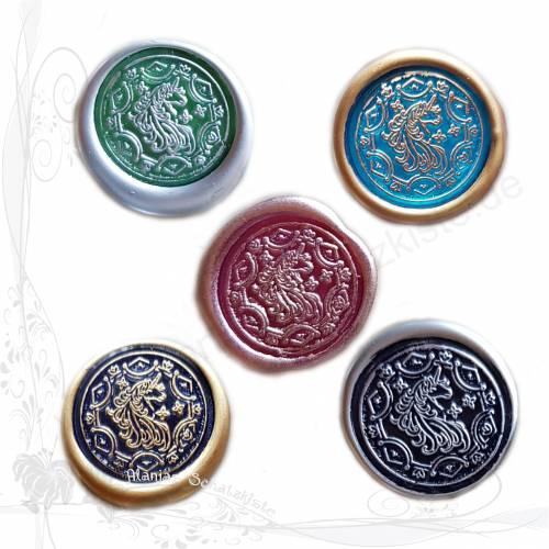 5 handgemachte Siegel, Motiv *Einhorn 002 Mix*, für DIY-Junk-Journals, keine Versandkosten