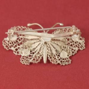 Vintage - sehr feiner Schmetterling als Brosche - 800 Silber Bild 4