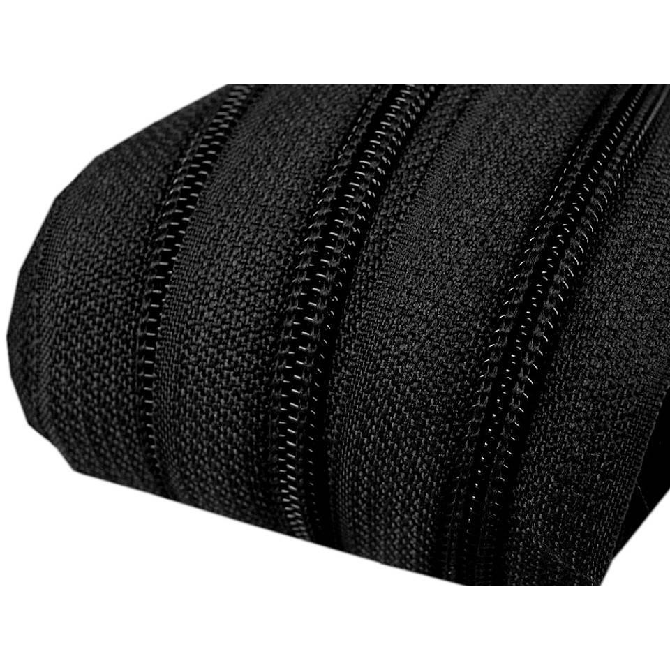 1 m Endlos Reißverschuss 5mm schwarz mit 3 Zipper Bild 1