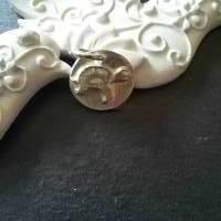 Runder Anhänger mit  Schildkröte aus 999 Silber Bild 2