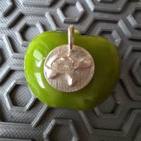 Runder Anhänger mit  Schildkröte aus 999 Silber Bild 5