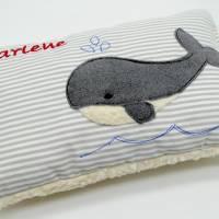 Wal Fisch Namenskissen Taufkissen Kuschelkissen Kindergartenkissen Geburtsgeschenk   Bild 2