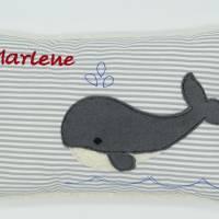 Wal Fisch Namenskissen Taufkissen Kuschelkissen Kindergartenkissen Geburtsgeschenk   Bild 4
