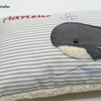 Wal Fisch Namenskissen Taufkissen Kuschelkissen Kindergartenkissen Geburtsgeschenk   Bild 5